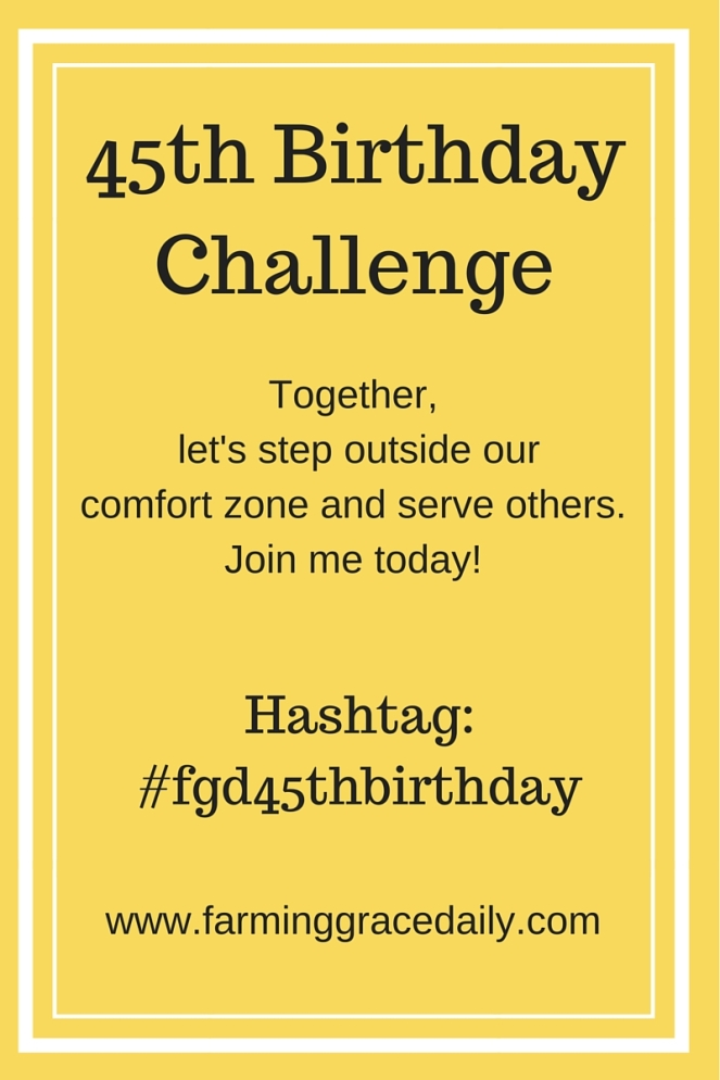 45th Birthday Challengehashtag- #fgd45thbirthday