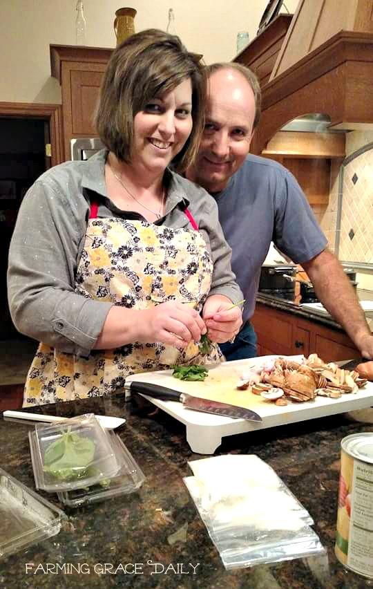 Farm family cooking farming grace daily