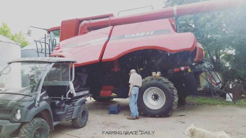 case ih combine family farm