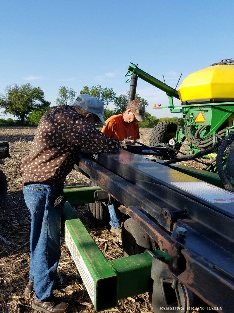 Dad and Son Farming