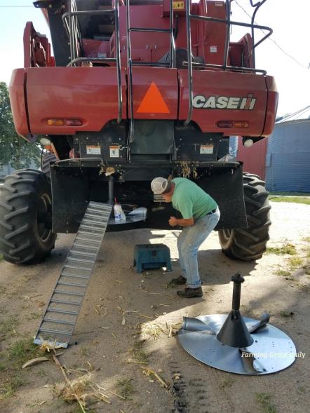 case ih combine milo harvest 2017